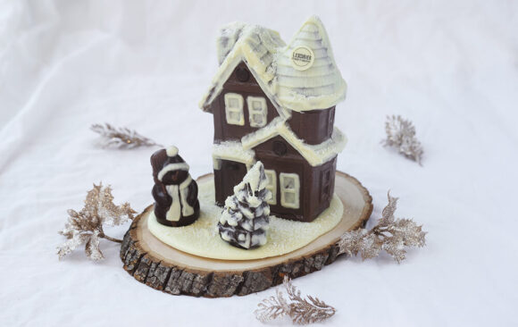 Maison de Noël en chocolat