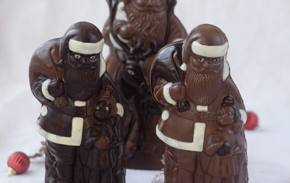 Pères noël en chocolat